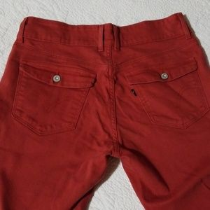 Levi's Jeans - Levi's Rust Red Mid Rise Skinny Jeans Flap Pocket